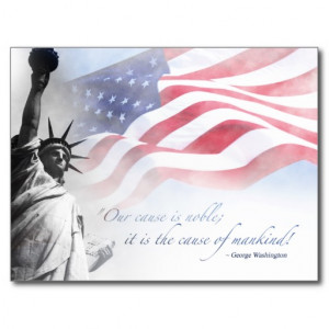 Patriotic Card Inspirational Famous American Quote Postcard