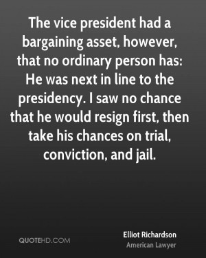 The vice president had a bargaining asset, however, that no ordinary ...