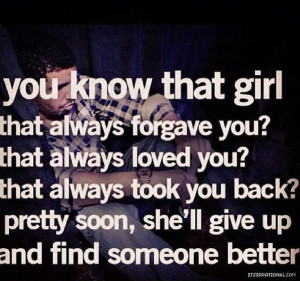 don t take her for granted