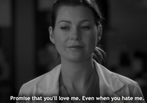 grey's anatomy,meredith grey,love)