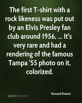 with a rock likeness was put out by an Elvis Presley fan club around ...