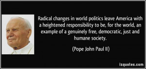 Radical changes in world politics leave America with a heightened ...