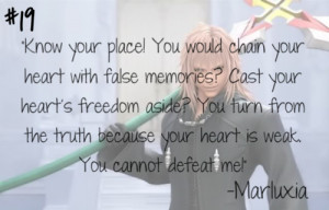 Know your place! You would chain your heart with false memories? Cast ...
