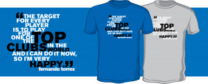 New Fernando Torres Quote T-Shirt – Perfect for Chelsea, Everton and ...