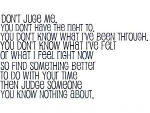 Dont Judge Me