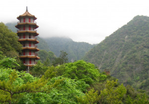 Taiwan Taroko National Park Temple, Wonders of Nature