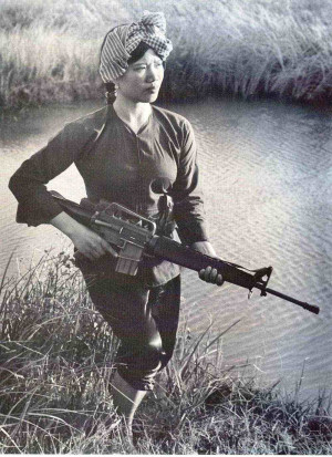 "... ,"" many women contributed to Viet Cong successes in South Vietnam"