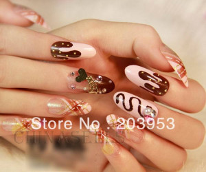 beauty nail accessories optional acrylic nail art false fake nail tips