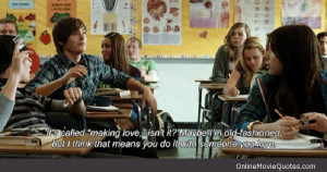 Quote about making love from the 2009 romantic comedy movie 17 Again ...