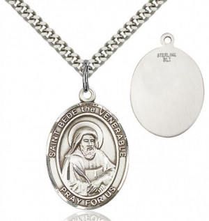 St. Bede the Venerable Medal - Sterling Silver