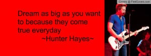 hunter hayes quote Profile Facebook Covers