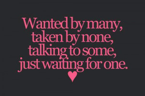 cute, heart, love, quote, quotes, single, waiting
