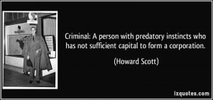 Criminal: A person with predatory instincts who has not sufficient ...
