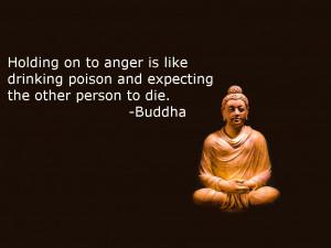 Holding on to anger…-Buddha