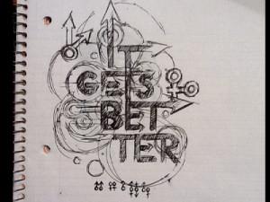 Dribbble - It Gets Better (Sketch) by Randy Church