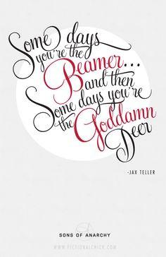 jax teller wisdom // #sonsofanarchy #quotes // typography and design ...