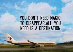 You don't need magic to disappear. All you need is a destination.