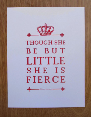 Shakespeare Quote Girl's Room Nursery Art // Unique by PetitInk, $16 ...