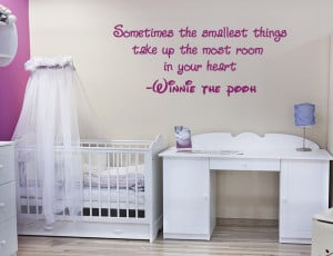 Large Winnie the Pooh wall quote sticker nursery baby room decal ...