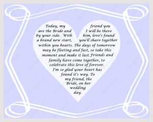 Gift for Bride on Wedding Day Poem from Friend INSTANT DOWNLOAD - On ...