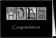 Aunt - Congratulations - Alphabet Art card - Product #896999