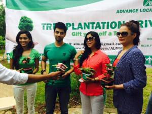 Sakshi Tanwar at Tree Plantation Drive Malad