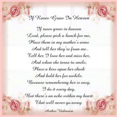 Mother In Heaven Poem | ... View topic - Printable Tile: Poem If Roses ...