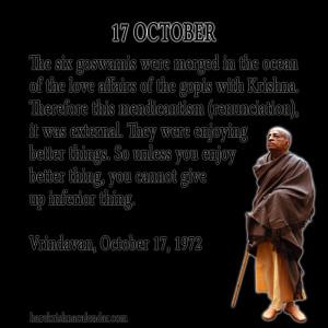 Srila Prabhupada Quotes For Month October 17