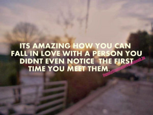 most unexpected time and sometimes for the most unexpected reason