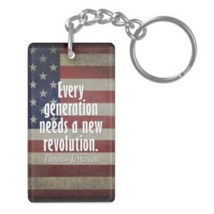 Thomas Jefferson Quote on Revolution Key Chain