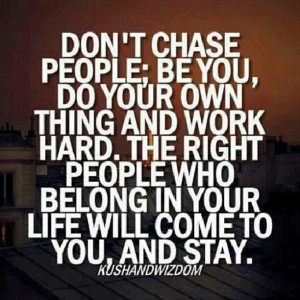 Chasing people....