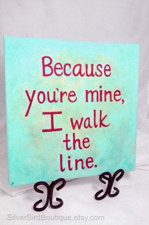 Johnny Cash Quote Painting, Custom Canvas Song Lyric Art, Walk the ...