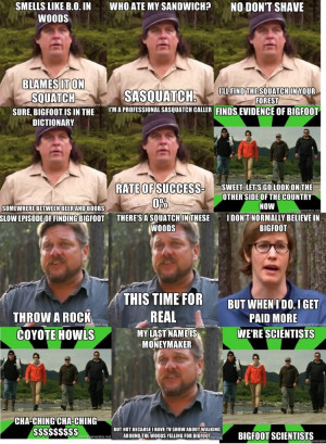 Finding Bigfoot enjoyable 2012 spoofs and all