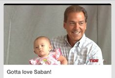 Nick Saban and his granddaughter! More