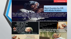 Best Quotes by DR.APJ Abdul Kalam