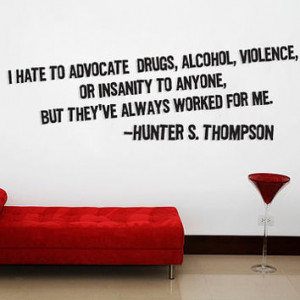 Hunter S thompson quote Wall art by Walkingdeadpromotion on Etsy