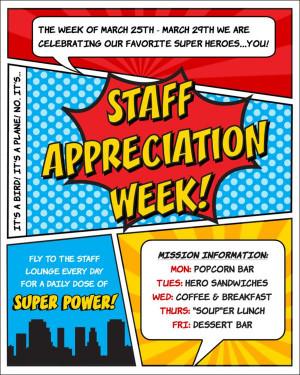 Staff TEACHER Appreciation Week Superhero Party! - 25+ teacher ...