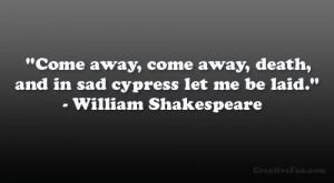 Death And Sad Cypress...