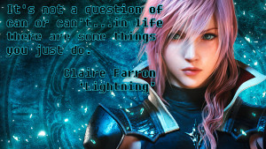 Video Game Quotes: Final Fantasy XIII on Mindset