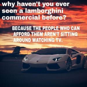 There's no lamborghini commercial