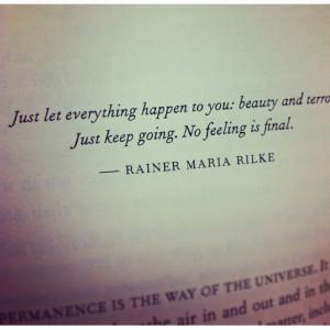 Just let it happen....