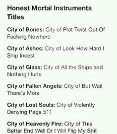 city of heavenly fire quotes - Google Search