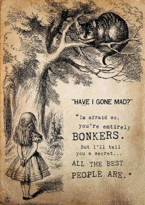 alice in wonderland 'bonkers' print by i am nat | notonthehighstreet ...