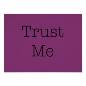 Trust Me Quotes Inspirational Purple Faith Quote Photo Art
