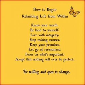 REBUILD YOUR LIFE QUOTES