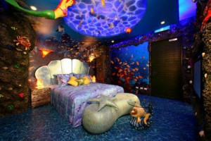 Want to make your own little mermaid room? The following picture shows ...