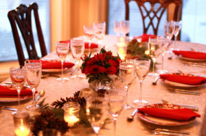 christmas decoration table 18 christmas dinner table setting the table ...