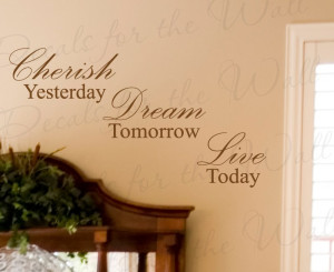 Cherish Time Vinyl Wall Decal Quote