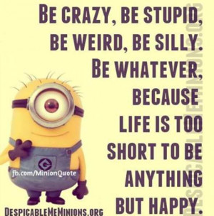 be crazy be stupid be crazy be stupid be weird be silly be whatever ...