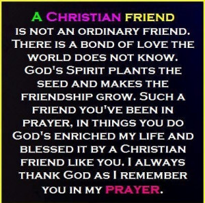 Thank you God for our Christian friends who have lead & guided us back ...